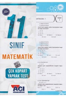 Açı Yayınları 11.Sınıf Matematik Çek - Kopart Yaprak Test