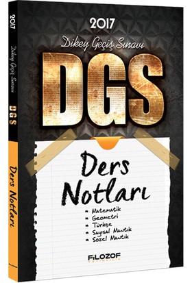 Filozof Yayıncılık 2017 Dgs Ders Notları