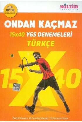 Kültür Yayınları Ygs Ondan Kaçmaz 15X40 Türkçe Denemeleri