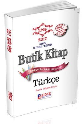 Lider Yayınları 2017 Kpss Türkçe Butik Kitap