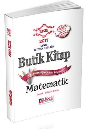 Lider Yayınları 2017 Kpss Matematik Butik Kitap