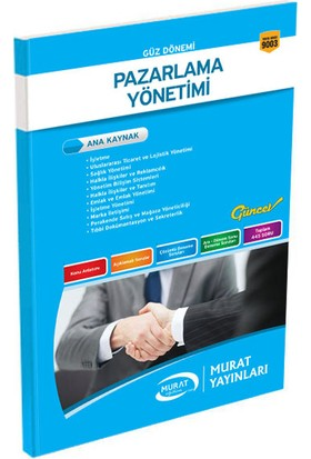 Murat Yayınları 3. Sınıf 5. Yarıyıl Pazarlama Yönetimi (Kod 9003)