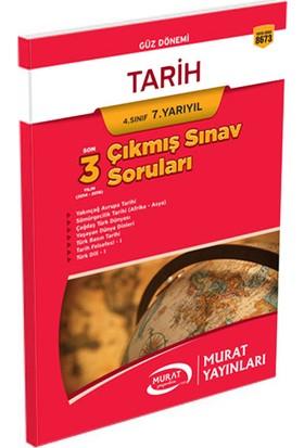 Murat Yayınları 4. Sınıf 7. Yarıyıl Tarih Çıkmış Sınav Soruları Kod:8673