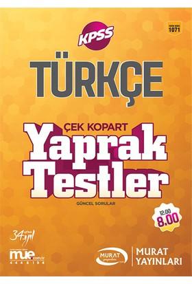 Murat Yayınları 2017 Kpss Türkçe Çek Kopart Yaprak Testler