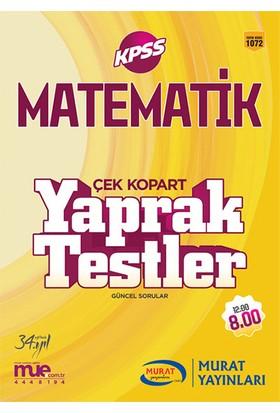 Murat Yayınları 2017 Kpss Matematik Çek Kopart Yaprak Testler