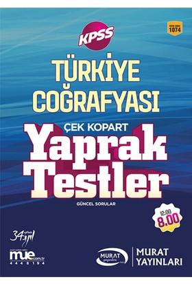 Murat Yayınları 2017 Kpss Türkiye Coğrafyası Çek Kopart Yaprak Testler