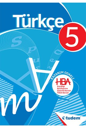 Tudem Yayınları 5. Sınıf Türkçe Kazanım Odaklı Hepsi Bir Arada