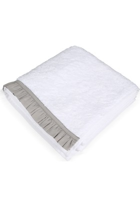 Beymen Home 100X150-(Açık Gri) Fırfırlı-B Beyaz Havlu