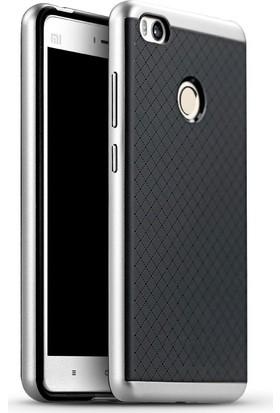 Case 4U Xiaomi Mi 4C Hybrid Korumalı İnce Arka Kapak Gümüş