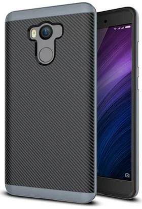Case 4U Xiaomi Redmi 4 Hybrid Korumalı İnce Arka Kapak Gri