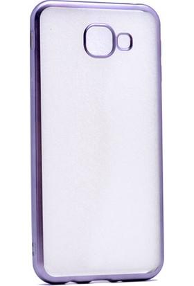 Case 4U Samsung Galaxy A8 2016 Kılıf Lazer Kaplamalı Nikelaj Silikon Koyu Gri