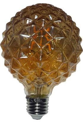 Erkled Dekoratif (Rustik) Ledli Ampul 6 W. Renk Amber/E27 Duy