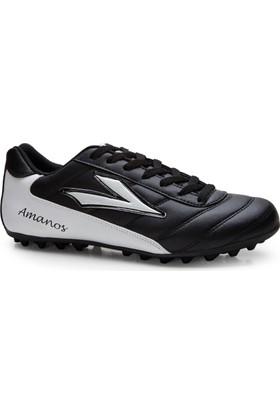 Lig Amanos Halı Saha Ayakkabısı Siyah-Beyaz