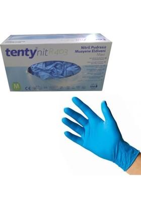 Tenty Pudrasız Nitril Eldiven Large Mavi / L 100 Ade