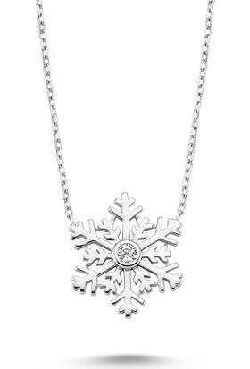 Mygümüş Tektaş Kartanesi Gümüş Bayan Kolye My100073