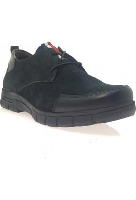 Weps Gold 476 Erkek Mevsimlik Hakiki Deri Ayakkabı Siyah