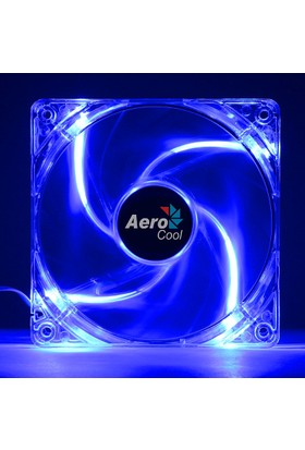 Aerocool 12cm PWM 4Pin Mavi Ledi Kasa Fanı (AE-CFPL120BL)