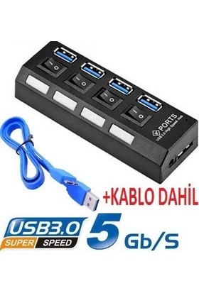 Alfais AL-4579 4 Port USB 3.0 Hub Çoklayıcı