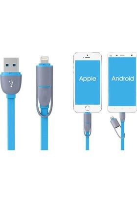 Alfais AL-4714 Apple + Micro USB Şarj Kablosu