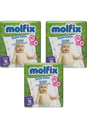 Molfix Alt Değiştirme Örtüsü 10'lu (3 ADET)