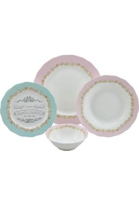 Setabianca Yemek Takımı Vıntage Pink 24 Prc
