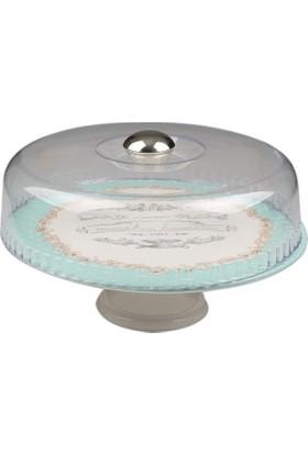Setabianca Ayaklı Pasta Tabağı Vintage Pink 30 Cm