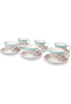 Setabianca Çay Fincan Takımı Vintage Pink 220 ml 6'Lı