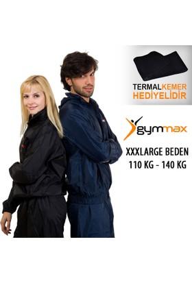 Gymmax Xxxl Beden 110-130 Kg Gymmax Sauna Eşofmanı + Termal Kemer