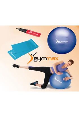 Muhtelif Pilates Topu 65 Cm +Yüksek Seviye Pilates Lastiği + Pompa Gymset105