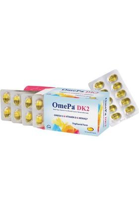 Tab İlaç A.Ş. Omepa DK2 - Vitamin D7 + Mena Q7 - 50 Yumuşak Kapsül