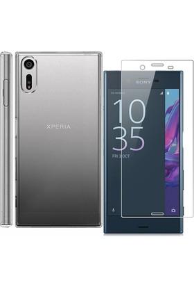 Teknoarea Sony Xperia XZ Silikon Kılıf + Kaliteli Cam Ekran Koruyucu