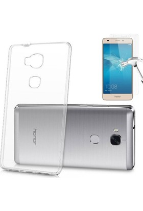 Teknoarea Huawei Honor Gt3 Silikon Kılıf Şeffaf + Cam