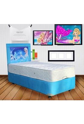 Homeshoppingmall Tek Kişilik Baza+Yatak+Başlık Elsa