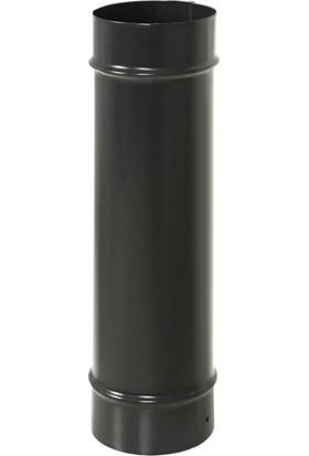 Goldmax Soba Borusu Siyah Mat 16Cm