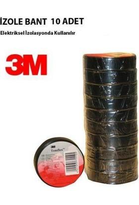 3M Kırmızı 3M Pvc Elektriksel İzolasyon Bandı 10'Lu