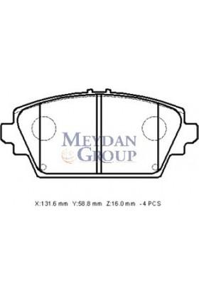 Ypc Nissan Almera- N16- Sd/Hb- 03/06 Ön Fren Balatası (Disk) (131,6X58,8X16) (Daiwa)