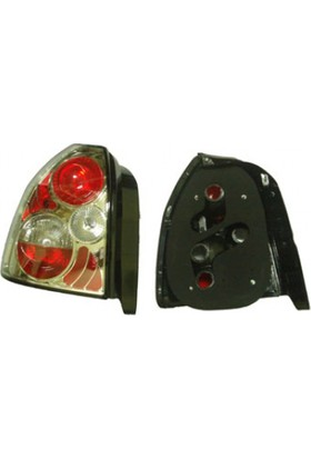 Ypc Honda Civic- Hb- 96/98 Modifiye Stop Lambası R/L Set 2Parça Nikelajlı/Açık Kırmızı/Beyaz(Tyc)