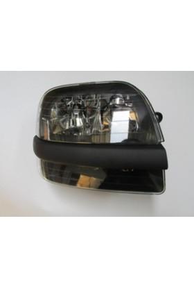 Ypc Fiat Doblo- 01/05 Far Lambası R Elektrikli/Motorsuz Siyah 8Fişli (Siyah Bandlı) (Famella)