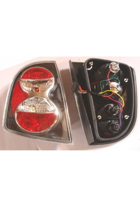 Ypc Skoda Fabia- 01/07 Modifiye Stop Lambası R/L Set 2 Parça Siyah/Kırmızı (Hb) (Tyc)