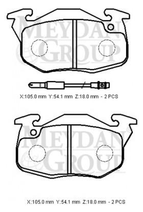 Ypc Renault R9- Broadway- 97/00 Ön Fren Balatası (Disk) (105X54,1X18) (Bramax)