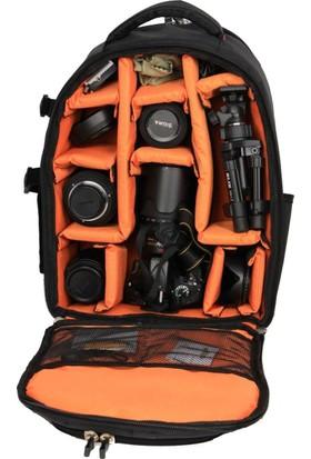 eye Canon Tüm Profosyenel Fotoğraf Makinesi Sırt Laptoplu Çantası