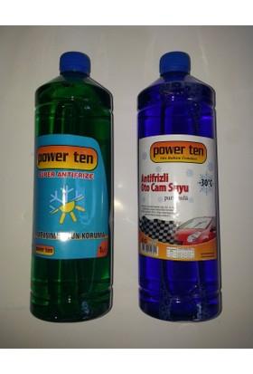 Powerten Antifriz Yeşil 1 lt + Cam Suyu Hediyeli