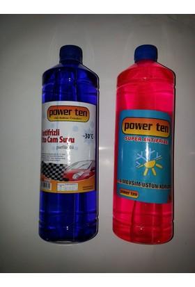 Powerten Antifriz Kırmızı 1 lt + Cam Suyu Hediyeli