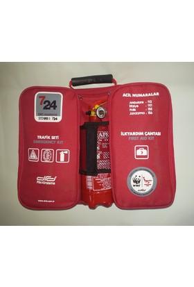 Trafik ve ilk yardım seti 35 parça full+kar zinciri hediyeli