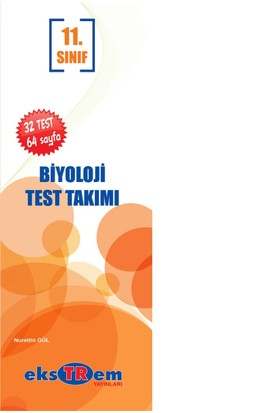 Ekstrem Yayınları 11.Sınıf Biyoloji Çek Kopar Yaprak Test Takımı