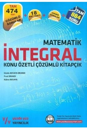 Yüzde Yüz Yayıncılık Matematik İntegral Konu Özetli Çözümlü Kitapçık