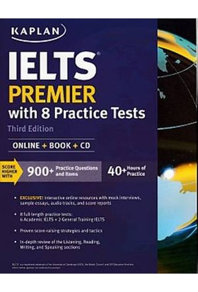 Kaplan Publishing Ielts Premier With 8 Practice Tests: Online + Book + Cd