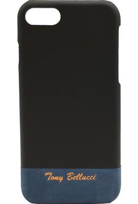 Tony Bellucci T305-1-49 Füme Apple iPhone 7 Deri Kapak