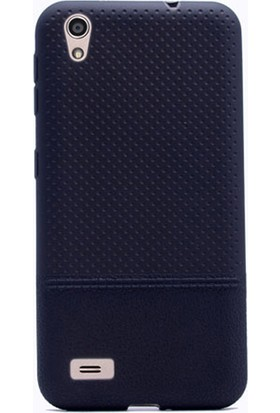 Gpack Vestel Venüs V3 5010 Kılıf Matriz Silikon Şık Arka Kapak Siyah