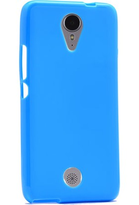 Gpack Casper Via E1C Kılıf Parlak Silikon Süper Kılıf Mavi